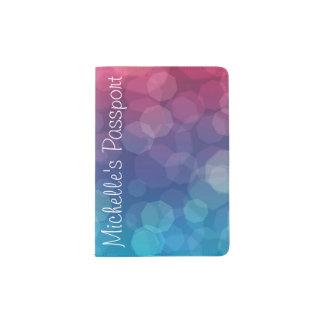 Rosa/blauer Steigungslichtblasen-Passhalter Passhülle