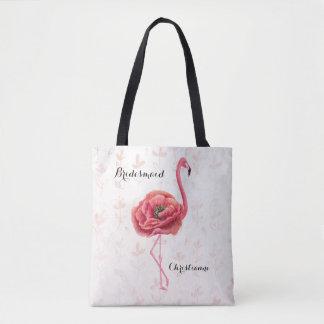 Rosa blühende Flamingo-Brautjungfern-Hochzeit