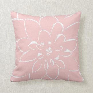 Rosa Blume des Dahlie-Rosen-Quarz-| Kissen