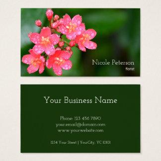 Rosa Blume - Florist Visitenkarte