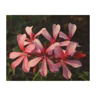 Rosa Blumen-Blüten-Foto-hölzerne Wand-Kunst Holzleinwände