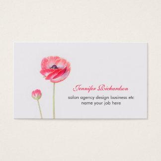 Rosa Blumen-Blüten-weißes elegantes Visitenkarte