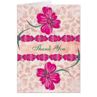 ROSA Blumen danken Ihnen Karte