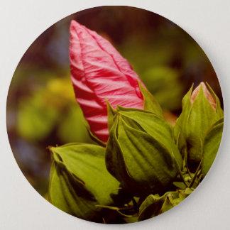 Rosa Blumen-Foto-Abzeichen Runder Button 15,3 Cm