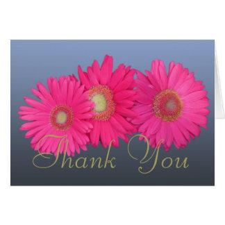 Rosa Blumen Gerberas-danken bunter FotoChic Ihnen Karte