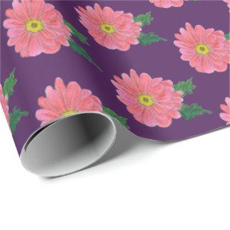 rosa Blumen Geschenkpapier