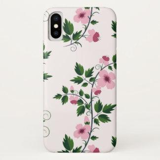 Rosa Blumen iPhone X Hülle