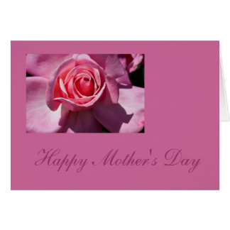 Rosa Blumen-Karte der Rosen-Mutter Tages Karte