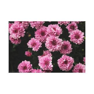 Rosa Blumen-Leinwand-Druck Leinwanddruck