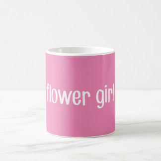 Rosa Blumen-Mädchen-Tasse Tasse
