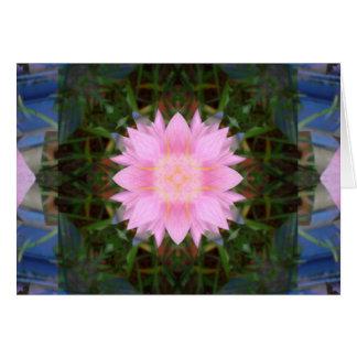 Rosa Blumen-Sternexplosion Grußkarte