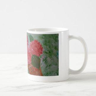 Rosa Blumen-Tasse Tasse