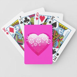 ROSA BLUMEN-TROPISCHE DIGITAL-IKONEN-LOGOS des Bicycle Spielkarten