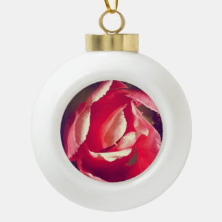 Rosa Blumen-Verzierung Keramik Kugel-Ornament