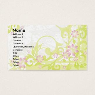 rosa Blumen Visitenkarten