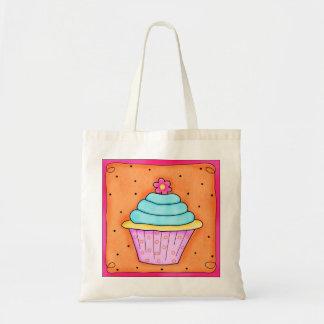 Rosa Blumen-Whimsy Kuchen-Taschen-Tasche Tragetasche