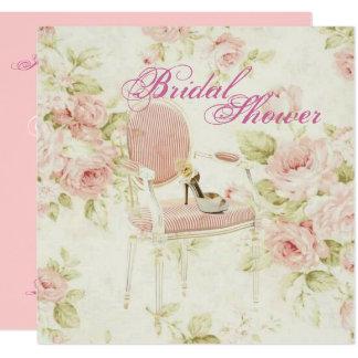 Rosa BlumenBrautparty-Tee-Party Einladung