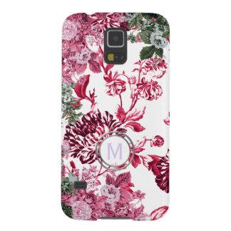 Rosa Blumengarten-Monogramm Galaxy S5 Cover