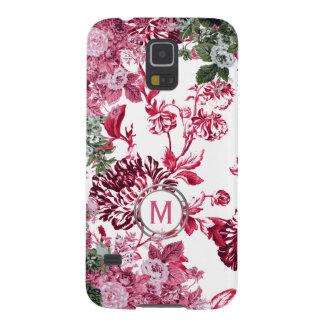 Rosa Blumengarten-Monogramm Galaxy S5 Hülle