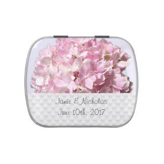 Rosa BlumenGastgeschenk Hochzeits-Süßigkeits-Zinn Vorratsdose