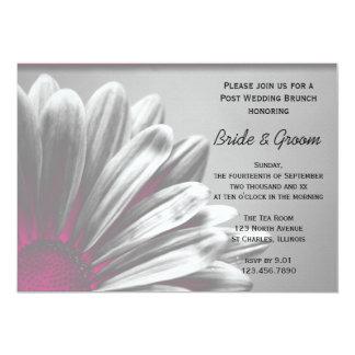 Rosa Blumenhöhepunkt-Posten-Hochzeits-Brunch laden 12,7 X 17,8 Cm Einladungskarte