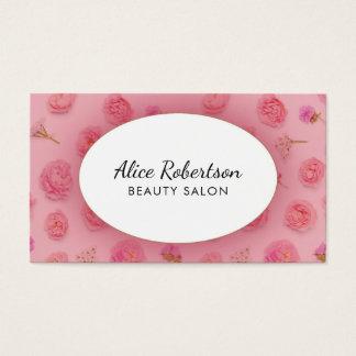 Rosa Blumenmuster Visitenkarte