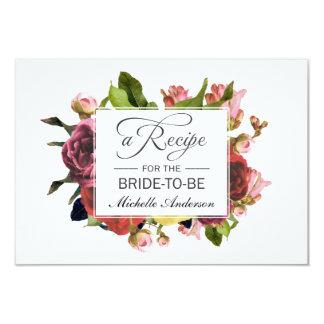 Rosa Blumenstrauß-Blumenrezept Karte