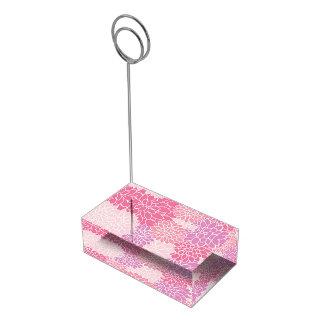 Rosa Blumentabellen-Kartenhalter