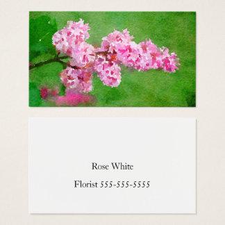 Rosa BlumeWatercolor abstrakt Visitenkarte