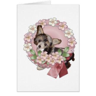 Rosa BlumeWreath - chinesisches mit Haube - Sheeba Karte