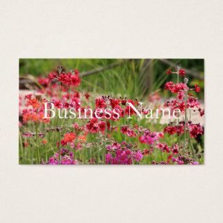 Rosa blumige Visitenkarte