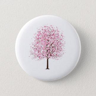 Rosa Blüten-Baum-Abzeichen Runder Button 5,1 Cm