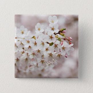 Rosa Blüten-Knospen Quadratischer Button 5,1 Cm