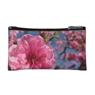 Rosa Blüten Makeup-Tasche