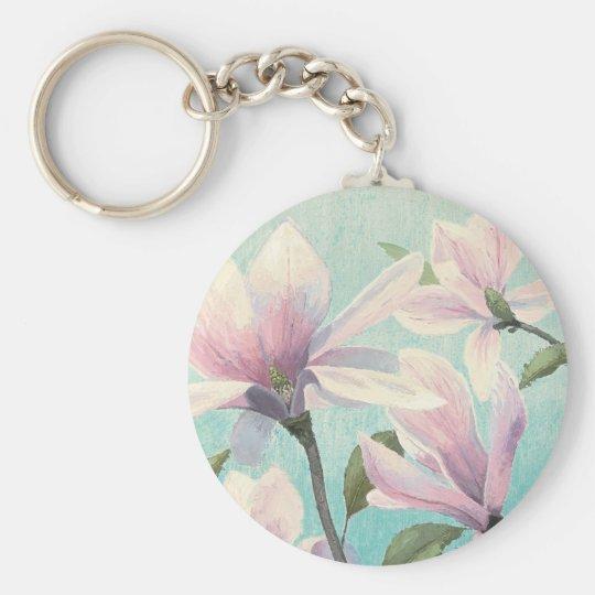 Rosa Blüten vom Süden Standard Runder Schlüsselanhänger