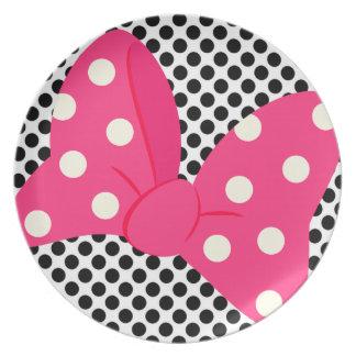 Rosa Bogen-Girly Platte Teller