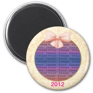 Rosa Bogen-Hochzeits-Magnet Runder Magnet 5,7 Cm