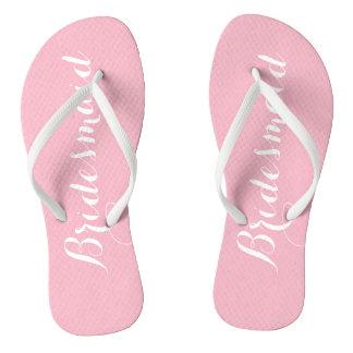Rosa Brautjungfer Flip Flops