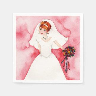 Rosa Brautparty-Verlobungs-Party-Hochzeit Papierservietten