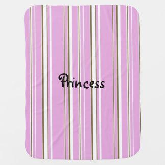 Rosa Brown-Streifen-Mädchen-Prinzessin Babydecke
