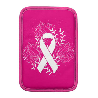 Rosa Brustkrebs-Bewusstseinsband-Blumen-Kontur Sleeve Für iPad Mini