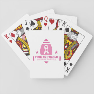 Rosa Brustkrebs-Unterstützung Spielkarten