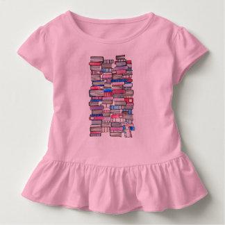 Rosa Buch-Rüsche-T-Stück Kleinkind T-shirt