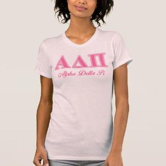 Rosa Buchstaben Alphadeltapus T-Shirt