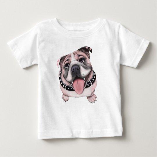 Rosa Bulldoggen-Baby-Shirt Baby T-shirt