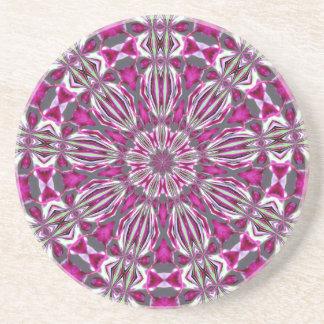 Rosa Buntglas-Kaleidoskop Untersetzer