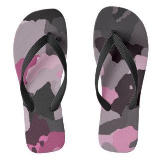 rosa Camouflage Flip Flops