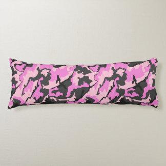 Rosa Camouflage, gebürstetes Seitenschläferkissen