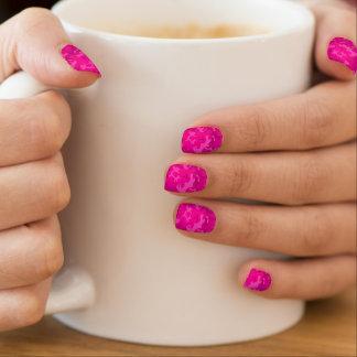 Rosa Camouflage Minx Nagelkunst