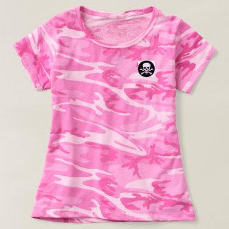 Rosa Camouflage-Rockerchic-T - Shirt